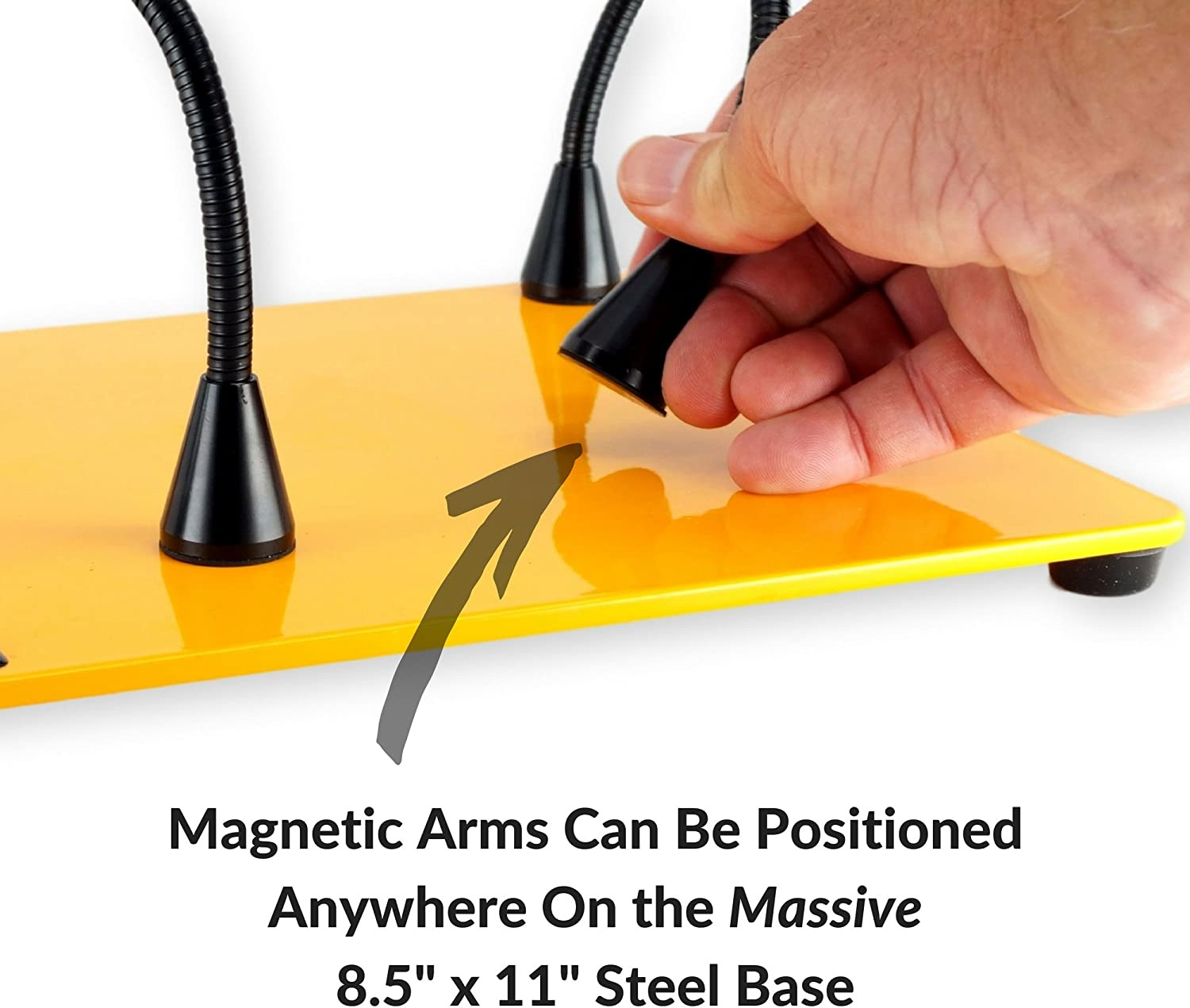 Magnetic Mount Arms Can be Positioned Anywhere QuadHands Deluxe WorkBench Helping Hands Third Hand System Ultimate Flexibility
