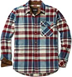 CQR Men's Flannel Long Sleeved Button-Up Plaid 100% Cotton Brushed Shirt HOF110