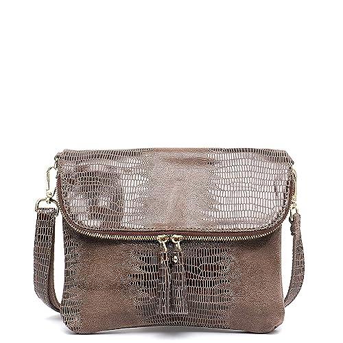 Pequeño bolso de solapa de cuero de la moda patrón de las ...