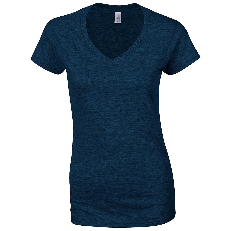 Gildan womens Heavy Cotton 5.3 oz. V-Neck T-Shirt(G500VL) at ...