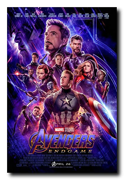 Mile High Media Avengers Endgame Movie Poster 24x36 Inch Wall Art Portrait Print - Chris Evans