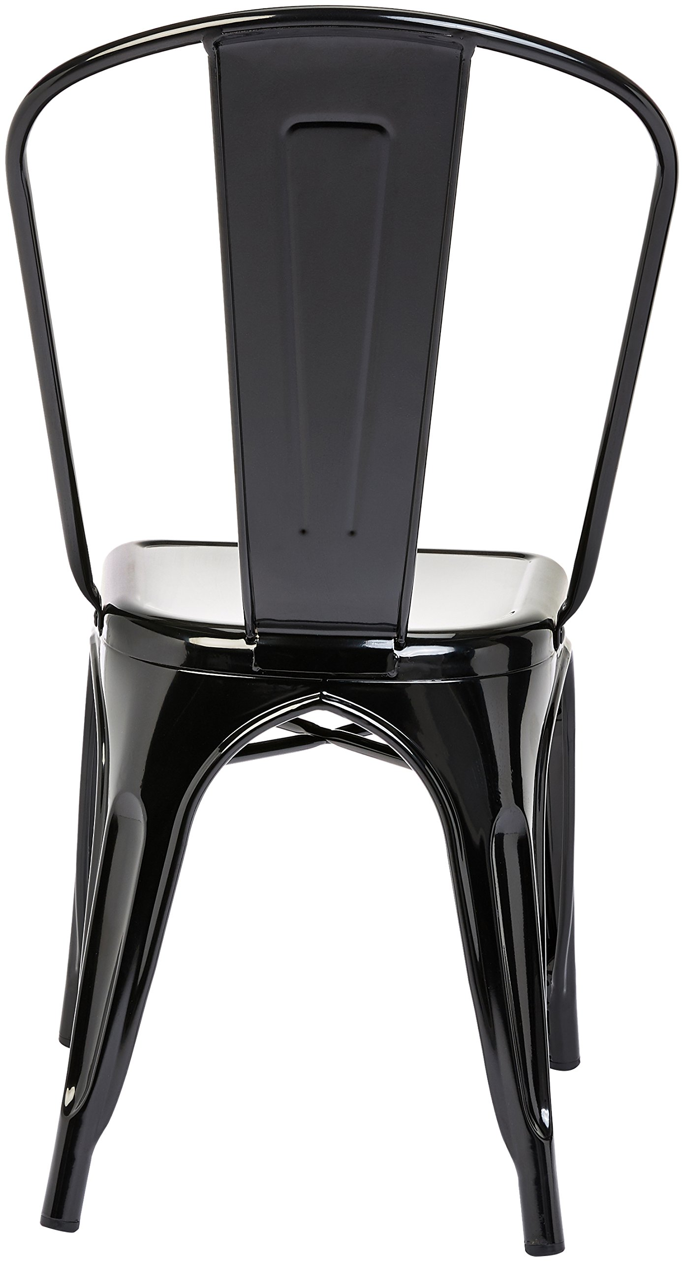 Pioneer Square Haley Stackable Metal Chair, Set of 4, Jet Black by Pioneer Square (Image #4)