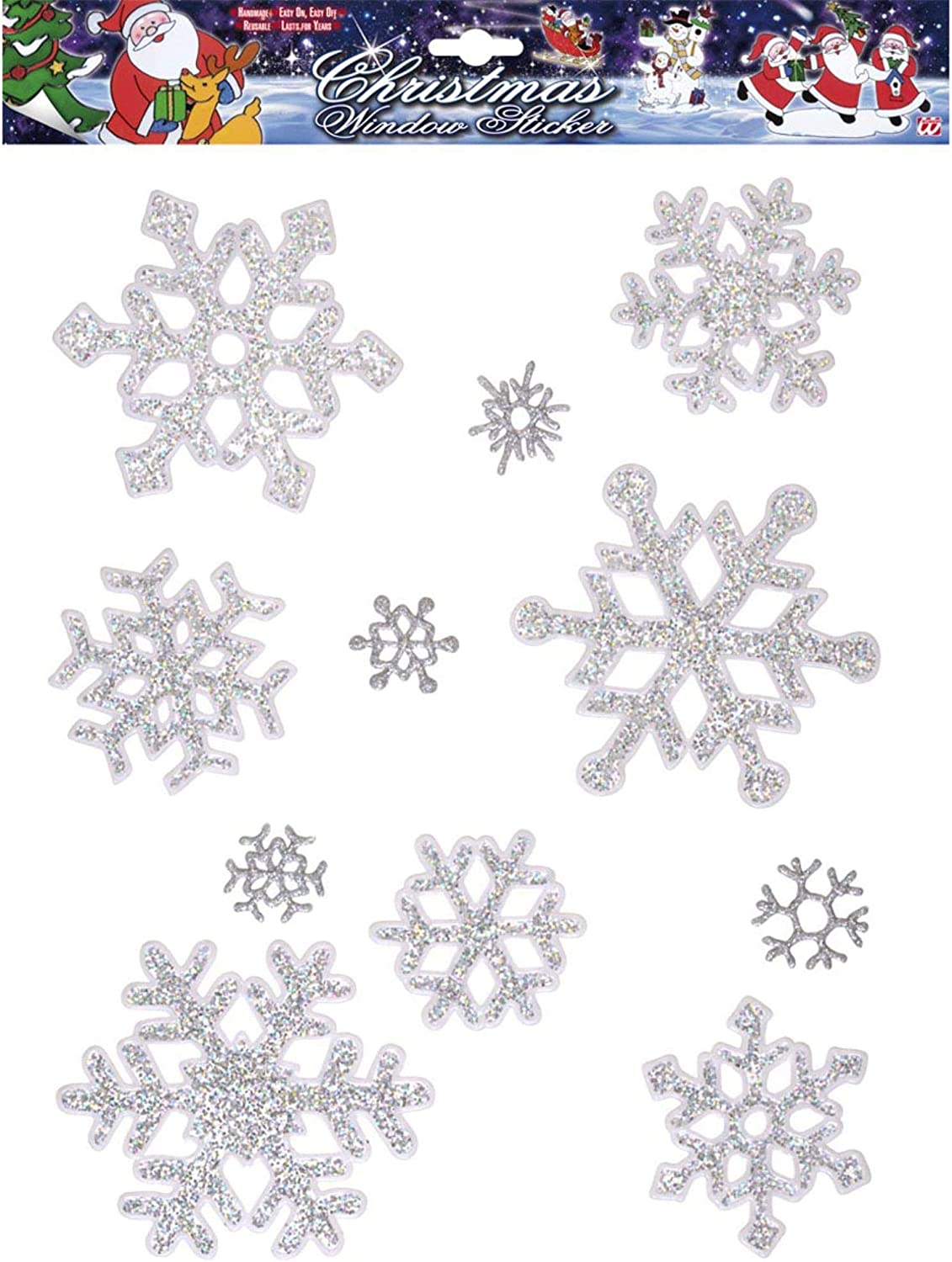 Idena 8581204 Window Picture Ice Crystals 11 Pieces Silver