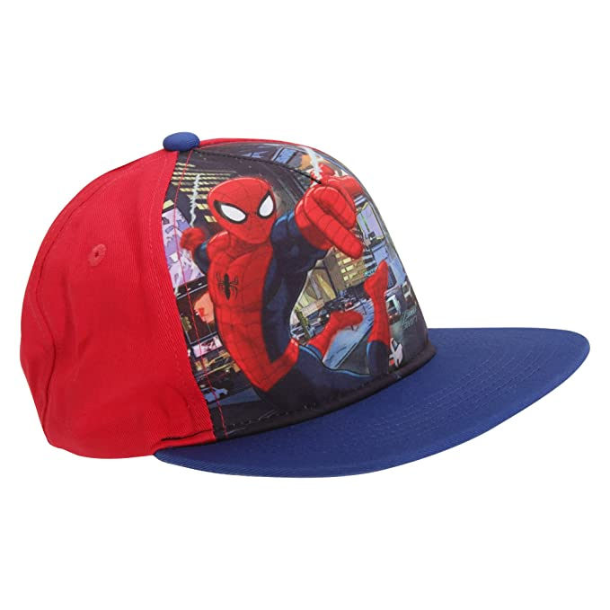 a410ac14a8c Spiderman Childrens Kids Official Snapback Cap (One Size) (Blue Red ...