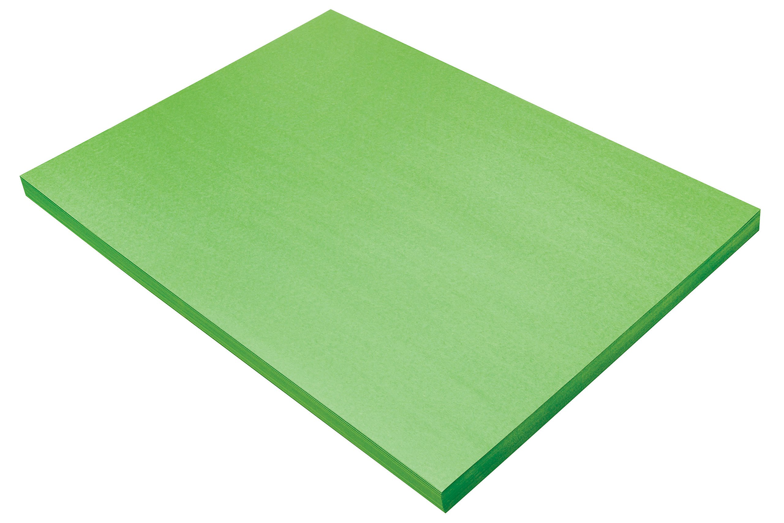 Pacon SunWorks Construction Paper, 18'' x 24'', 100-Count, Bright Green (9618)