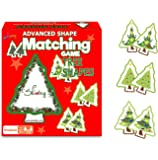 Skoolzy Memory Match Educational Games for Kids- Christmas Tree Shape Matching - Stocking Stuffer Gifts -Fun Learning…