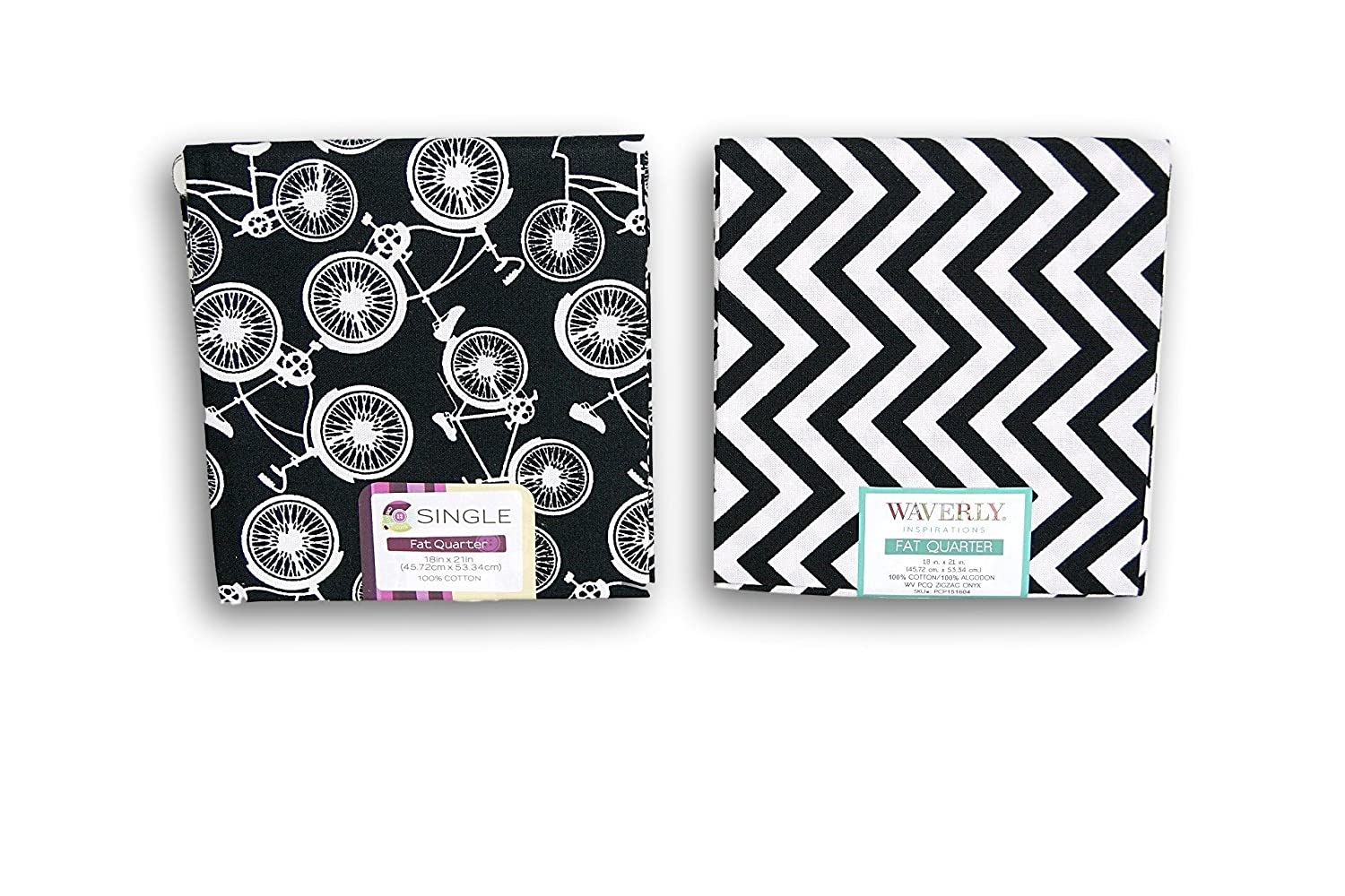 Creative Cuts Fat Quarters Bundle - Black and White Pattern Theme Fabric Editions 4336917390
