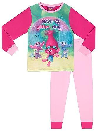 Trolls Girls Pyjamas Ages 2 to 10 Years  Amazon.co.uk  Clothing eac36659b