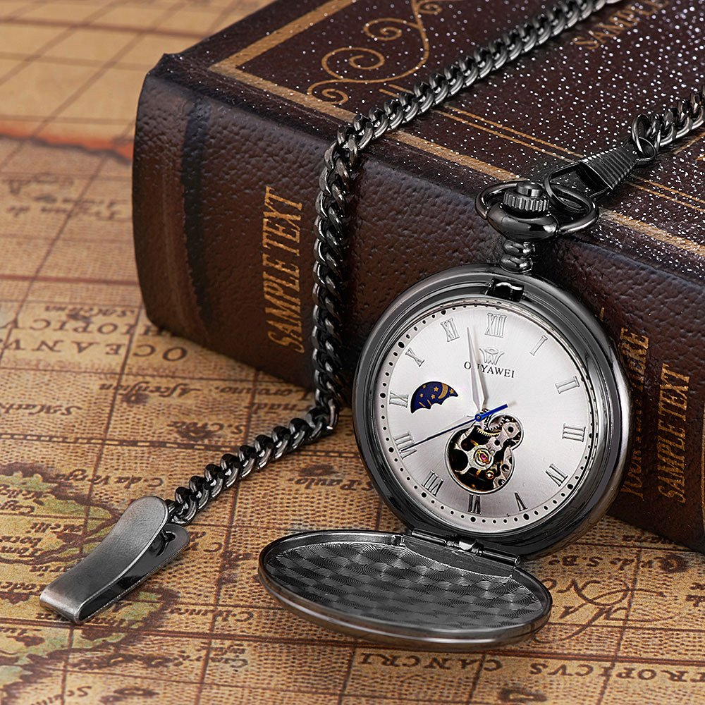 To My Son Love Dad Pocket Watch for Son Gifts from Dad (Love Dad Black Mechanical Pocket Watch) by Ginasy (Image #4)