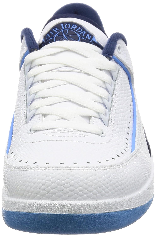 e966f2af8ecbf Jordan Men Air Jordan 2 Retro Low Midnight Navy (white / university  blue-midnight navy) Size 9.5 US
