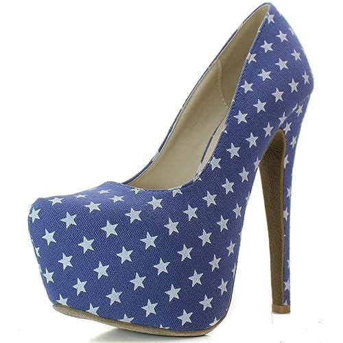 e419a609fde Women's Extreme High Fashion Pointed Toe Hidden Platform Sexy Stiletto High  Heel Pump Shoes