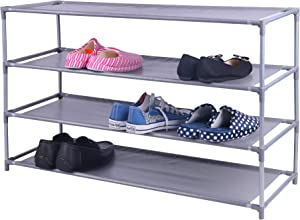 Home Basics 20 Pair Non-Woven Shoe Rack (4-Tier Wide)