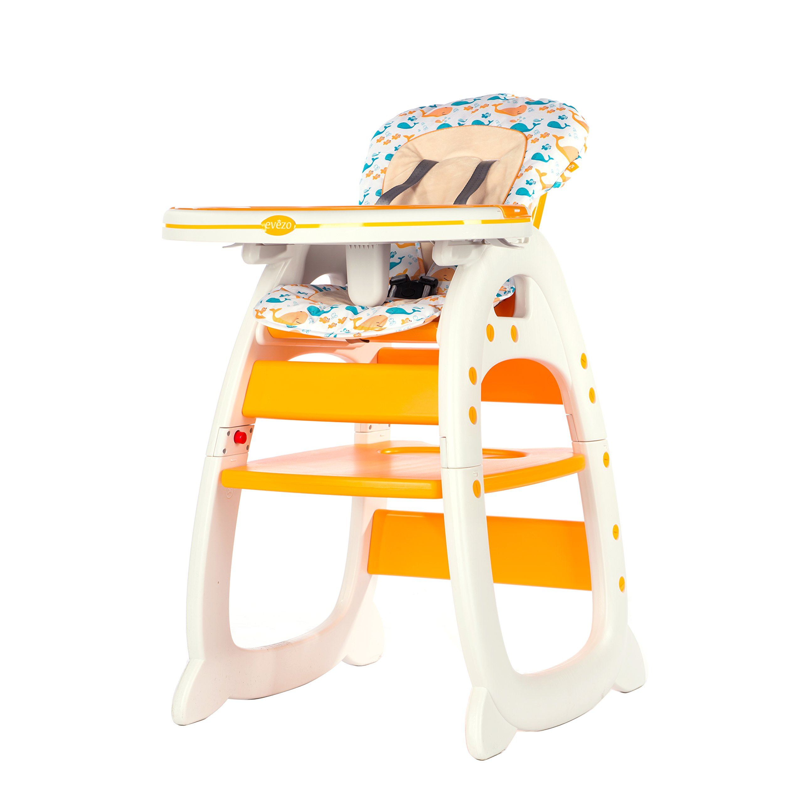 Evezo 6251A 3-in-1 Baby High Chair, Booster Seat, Desk and Chair Set, Dandelion