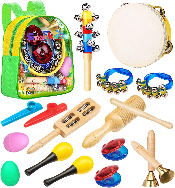 Smarkids Instrumentos Musicales Infantiles, juguetes musicales instrumentos de percusión juguetes niños educativos maracas shakers panderetas regalos ...