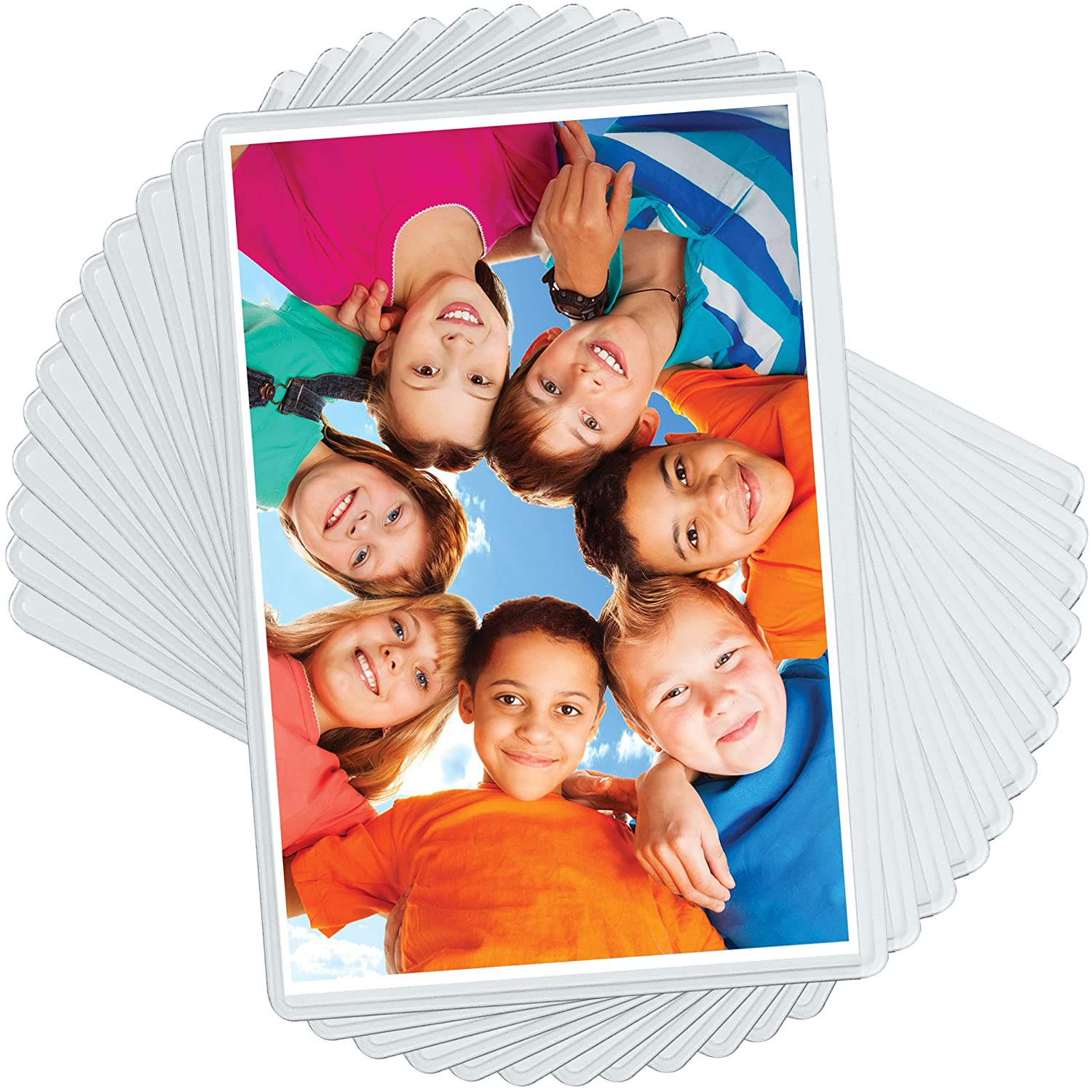 20 Pack 4x6 Magnetic Picture Frames for 4 X 6 Inch Photo Plastic Refrigerator Insert Holder Sleeve Pocket by Freez-a-frame Made in The USA