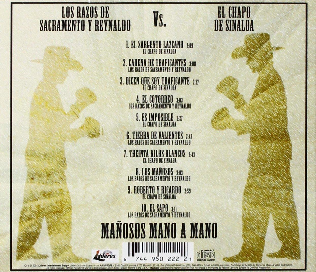 Razos De Sacramento Y Reynaldo, Chapo De Sinaloa - Manosos Mano a Mano - Amazon.com Music