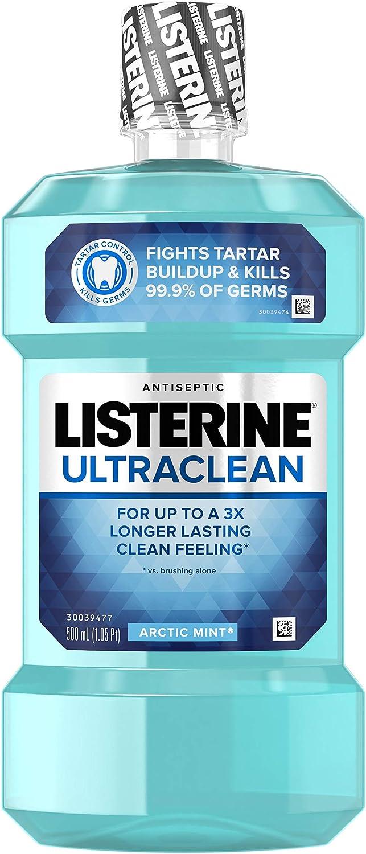 Listerine UltraClean Mouthwash, Arctic Mint - 16.9 oz