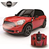 CMJ RC Cars™ Mini Cooper Countryman All4 S Official Licensed Remote Control Car for Children and Adults alike with Working LED Lights, Radio Controlled Supercar On Road RC 1:24 Model, RTR, EP White Great R/C Toy for Boys and Girls, 2.4Ghz RACE MORE THAN 10 CARS TOGETHER- Do Not Accept Cheap Imitations. Mini Cooper Countryman All4 S in Red
