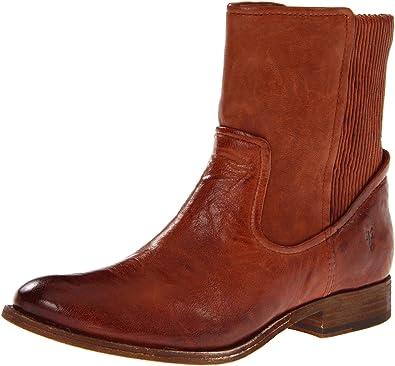 FRYE Women's Melissa Scrunch Short Boot, Cognac Antique Soft, ...