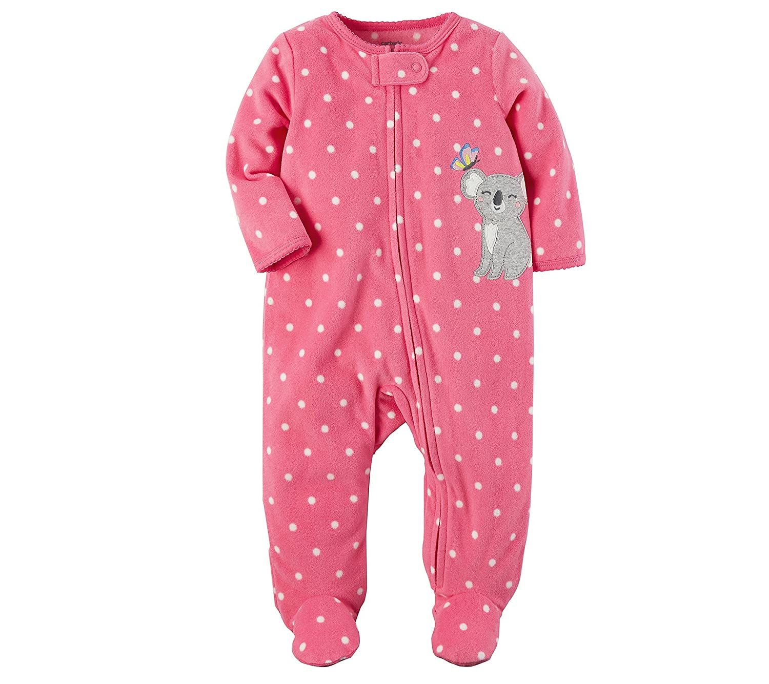 Carter's Baby Girls' Fleece Zip up Koala Sleep & Play Carters 115G338