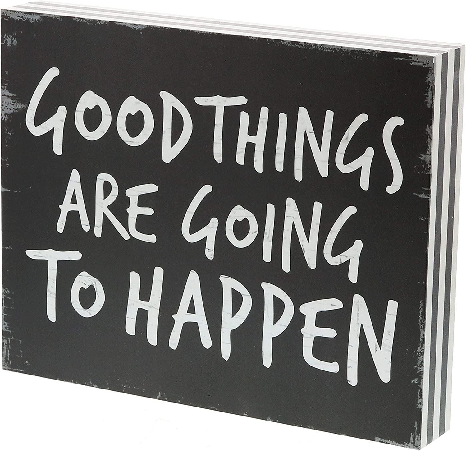 """Barnyard Designs Good Things are Going to Happen Box Sign Vintage Primitive Country Positive Quotes Home Wall Decor 10"""" x 8"""""""