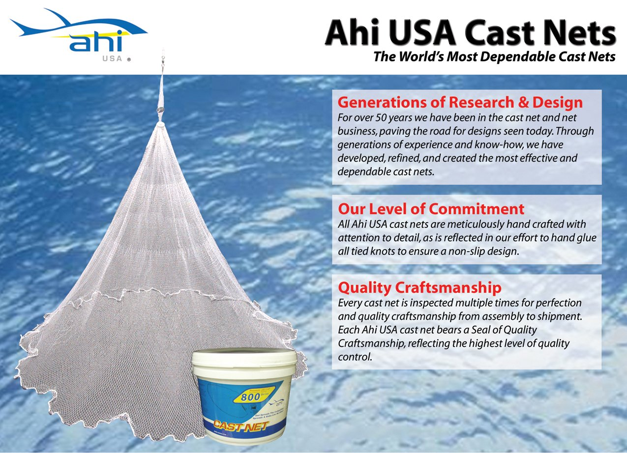 Ahi USA 400 Series Cast Net, 10-Feet, Green by Ahi USA