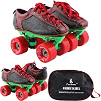 Quad Skate with Warrior Ninja Red Wheel & Green Frame