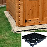 6ft x 4ft Eco Shed Base Kit includes Weed Fabric and 24 x TruePave Eco Friendly Plastic Paving Slabs