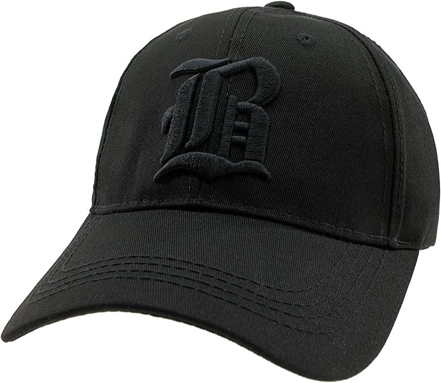 Gorra de Béisbol informal, letra B Gótica black B black Talla ...