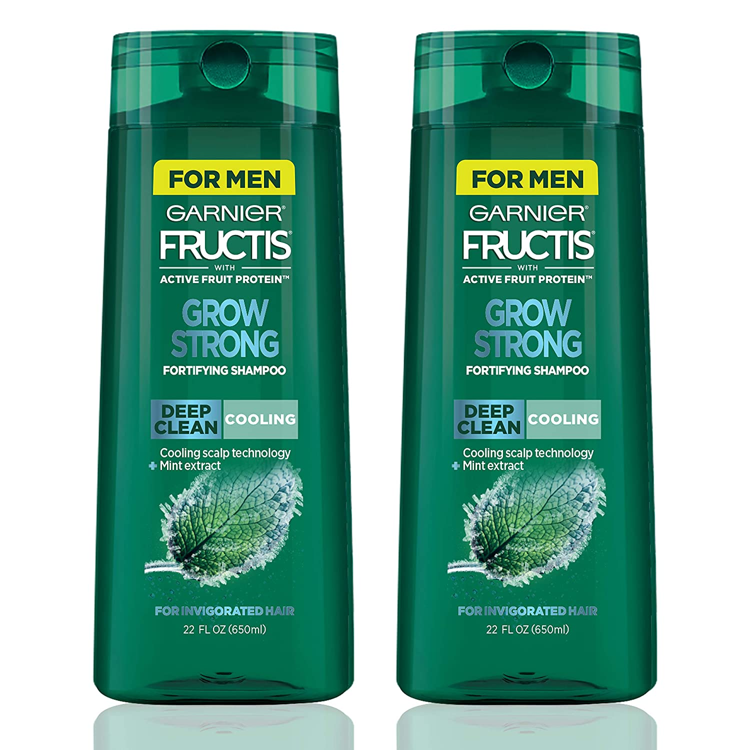 Garnier Hair Care Fructis Grow Strong Cooling Deep Clean Shampoo for Men for Invigorated Hair, 22 Fl Oz