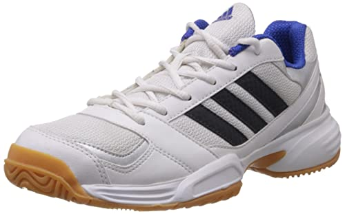 size 40 26489 096f5 Adidas Mens Emblaze White and Silver Badminton Shoes - 12 UK