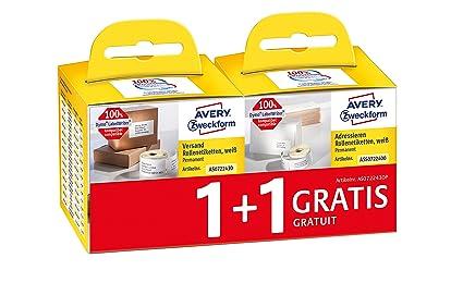 5x Drucker Etiketten für Dymo 99010 28 x 89 mm Labelwriter 450 Duo 450 Series