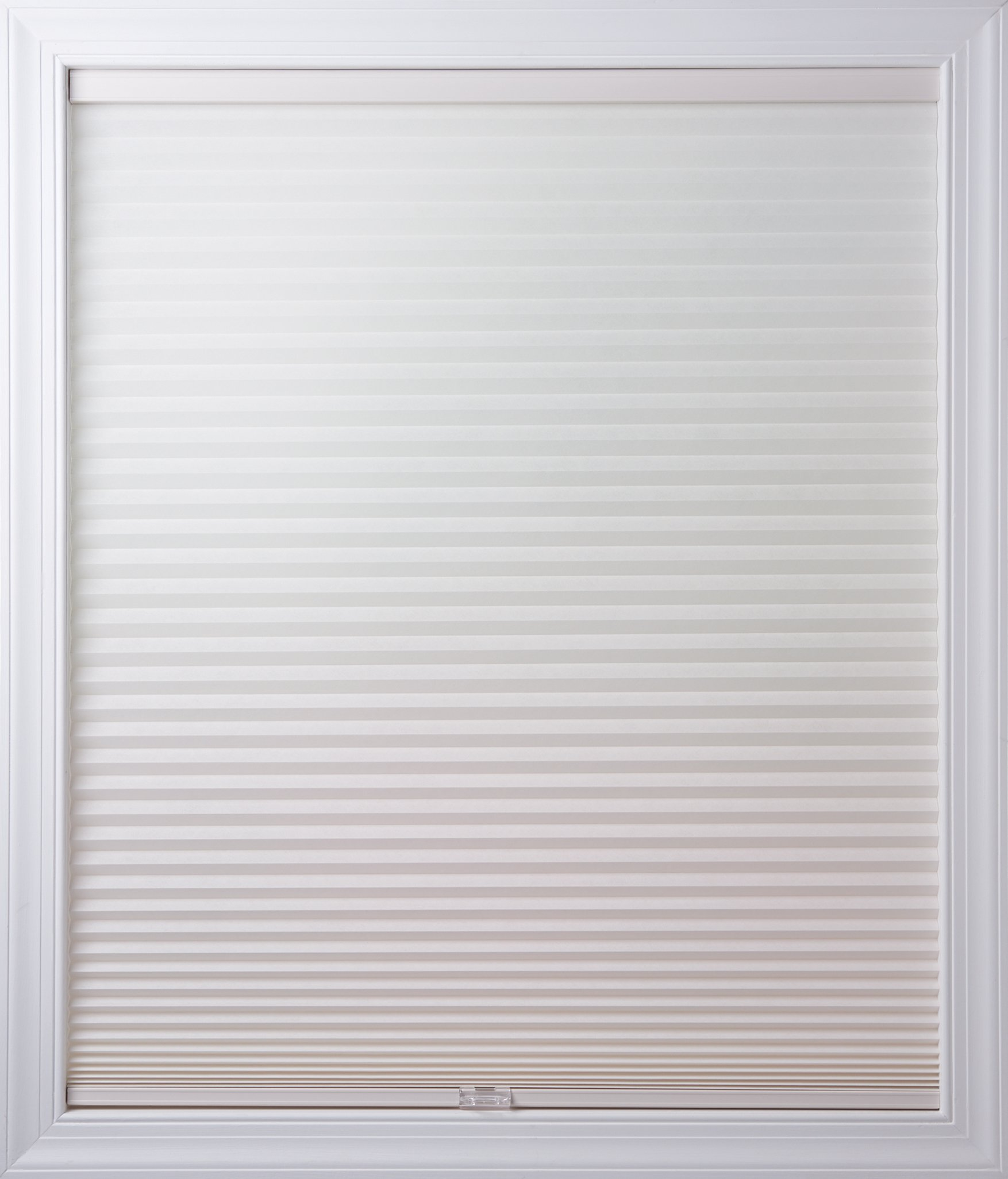 New Age Blinds Light Filtering Inside Frame Mount Cordless Cellular Shade 37-1/2 x 48-Inch White Dove by New Age Blinds