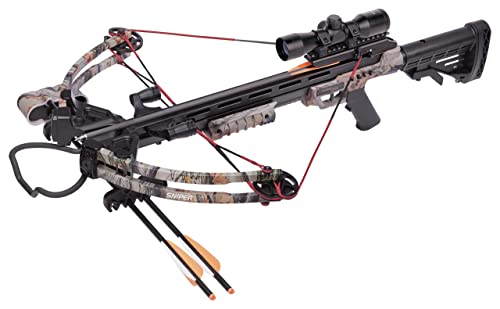 CenterPoint Sniper 370 – Camo Crossbow Package