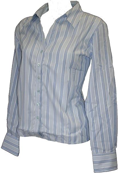 Simon camiseta de fútbol para hombre blanco y azul cuello abierto blusa de diseño de rayas