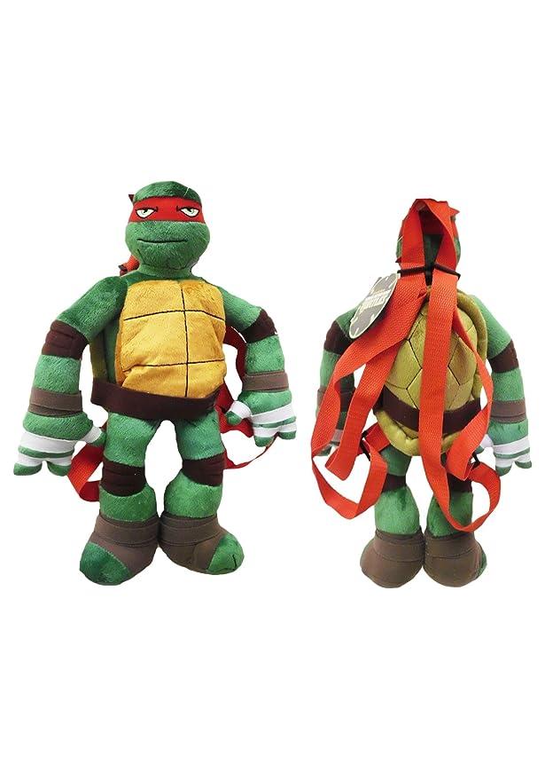 Teenage Mutant Ninja Turtles Plush Backpack Raphael: Amazon ...