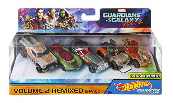 Hot Wheels Marvel Guardians, Multi Color (Pack of 5)