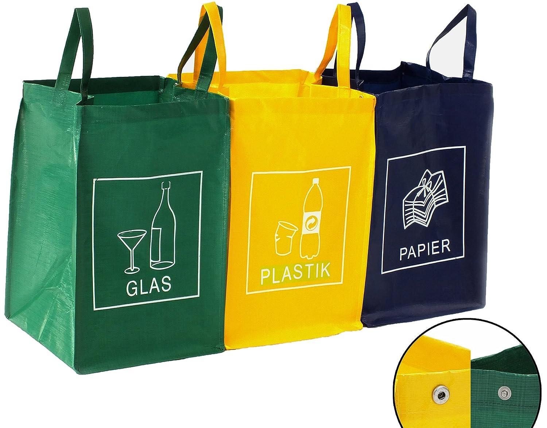Contenitore 3 Scomparti Ricicla Bag | Vetro, Plastica e carta DWD-Company