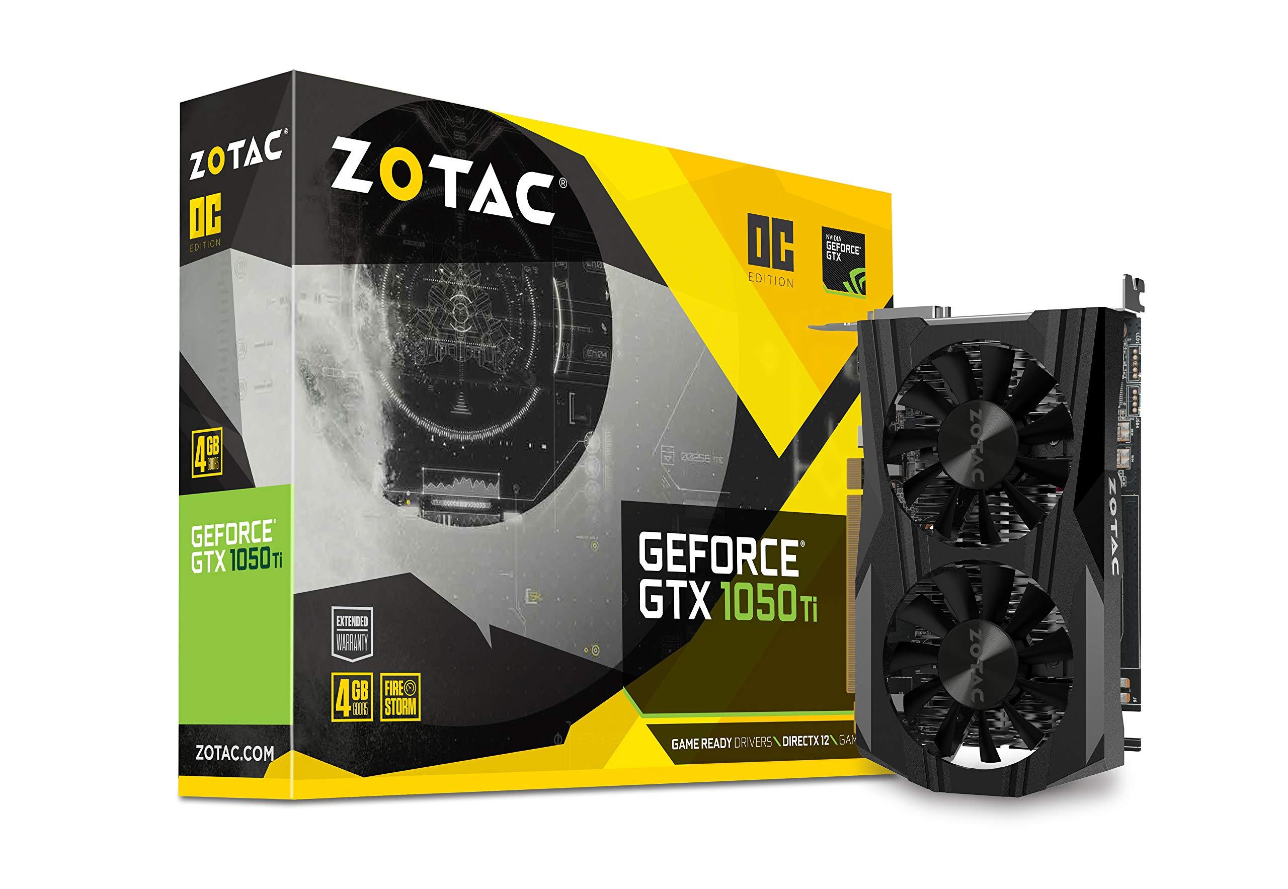 d51c5ce450c400 Zotac ZT-P10510B-10L Scheda Video Gaming, GeForce GTX 1050 Ti 4GB GDDR5