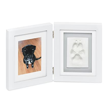 41924b8c51ec Better World Pets Paw Prints Keepsake Photo Frame Holds 4 x 6 inch Picture  – Memorial Clay Imprint Kit – for Dogs and Cats – Perfect for Pet Lovers