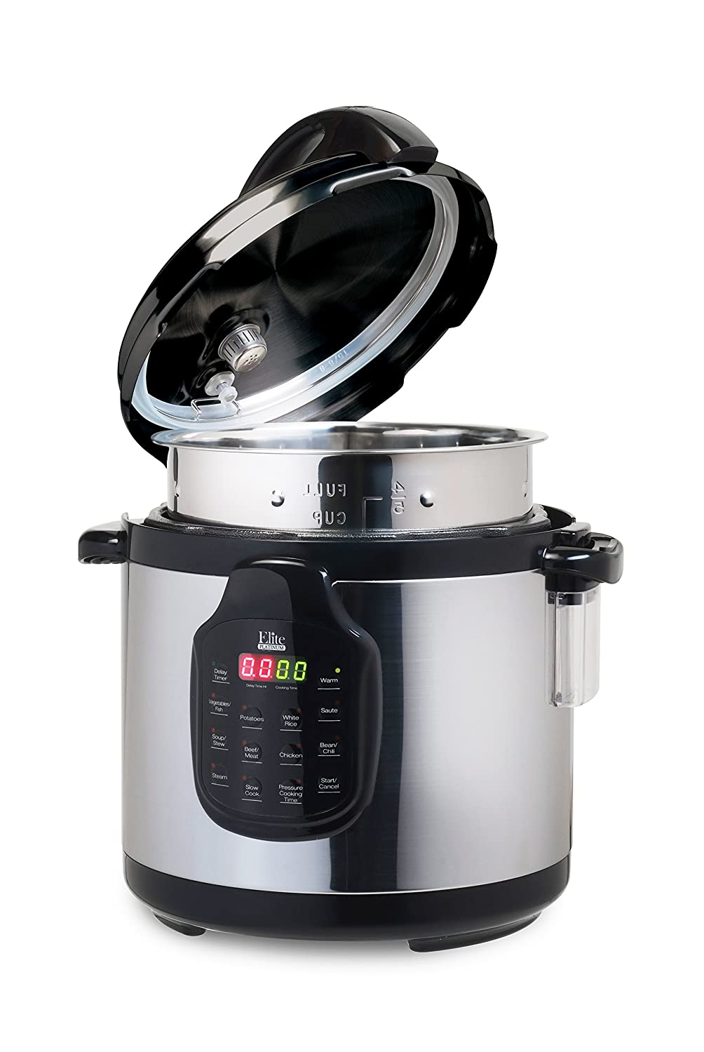 Elite Platinum 11-in-1 Maxi-Matic Elite Platinum EPC-678 Electric Pressure Cooker, Slow Cooker, with 6Qt. Tri-ply Stainless Steel Inner Pot