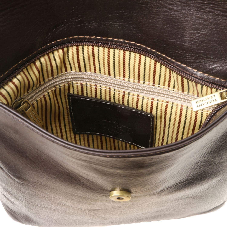 Tuscany Leather Morgan Sac bandoulière en Cuir Marron foncé Cognac