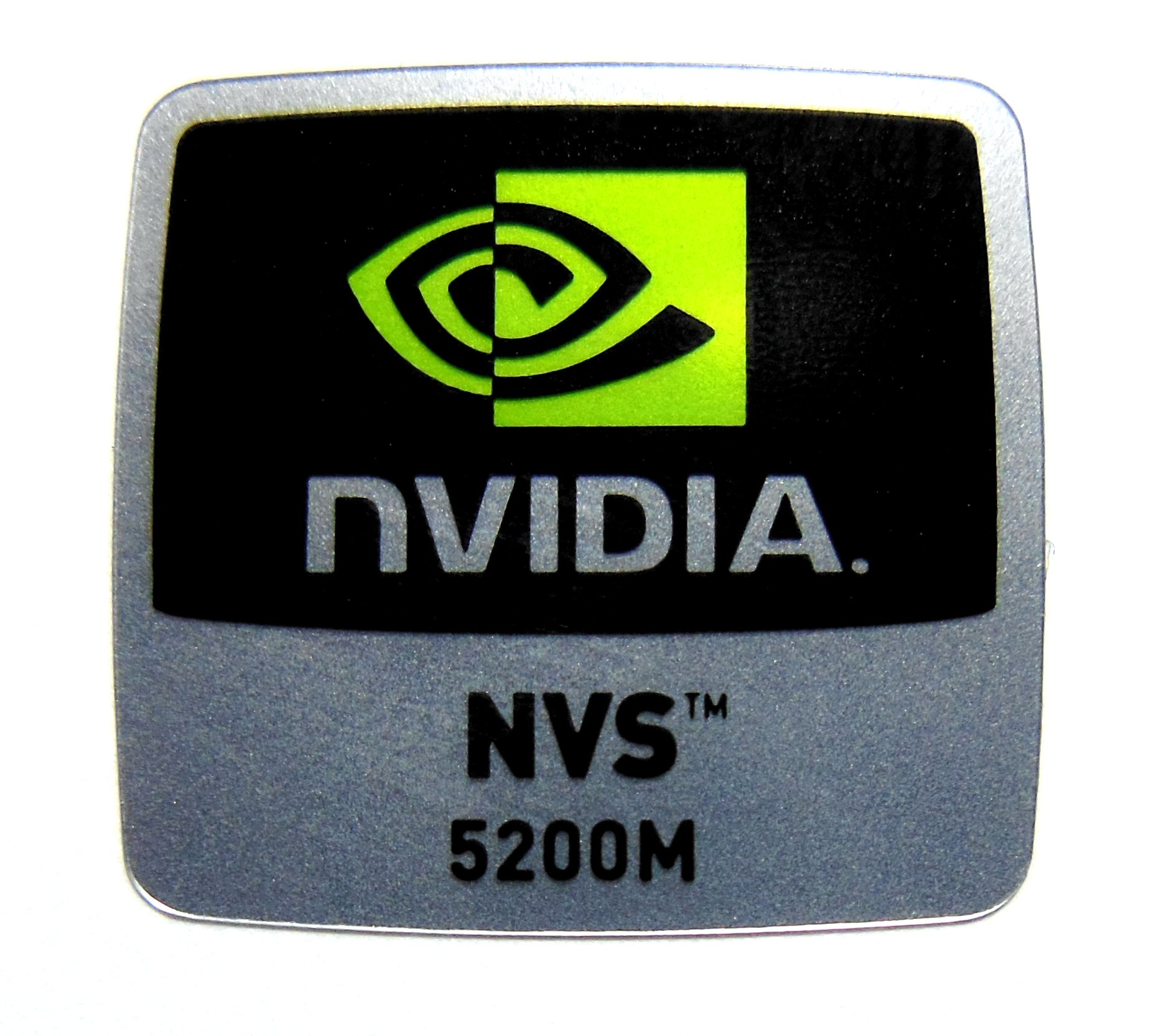Original NVIDIA NVS 5200M Sticker 18mm x 18mm [864]