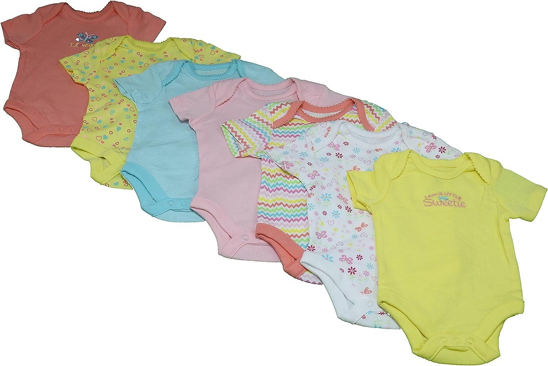 Multi-Color Butterfly Members Mark Baby Girls 7-Piece Bodysuit Set