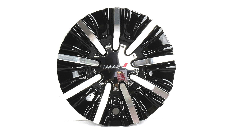 Amazon com: Maas Luxury wheels Black & Chrome Center Cap