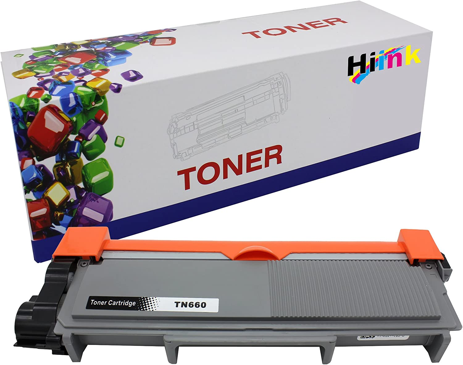 HIINK Compatible Toner Cartridge Replacement for Brother TN660 (Black, 1-Pack)
