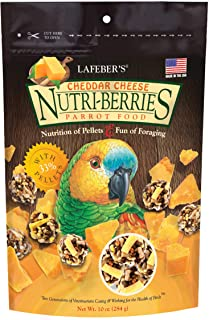 product image for LAFEBER'S Cheddar Cheese Nutri-Berries Pet Bird Food, Made with Non-GMO and Human-Grade Ingredients, for Parrots, 10 oz
