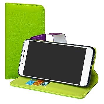 LiuShan Zenfone 3 MAX ZC553KL Funda, PU Cuero Book Style Billetera ...