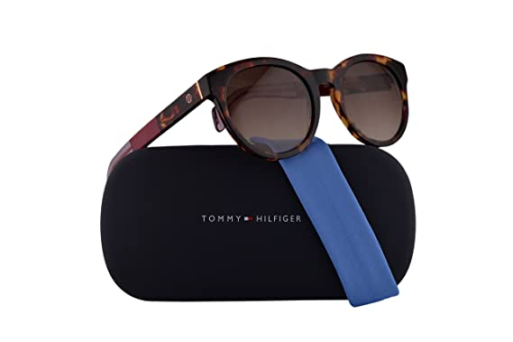 9154222653bd Tommy Hilfiger TH 1291/S Sunglasses Red Havana w/Brown Gradient Lens 52mm  G6XJD