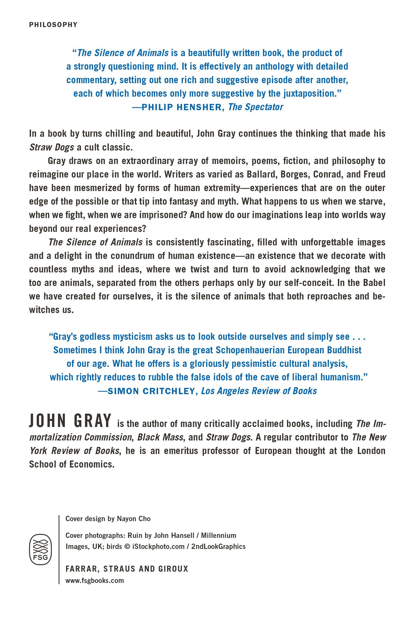 The Silence Of Animals: On Progress And Other Modern Myths: John Gray:  9780374534660: Amazon: Books